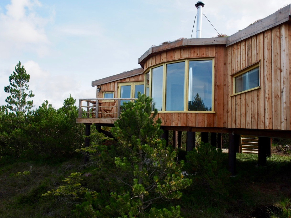 Cabin in the woods with sea views