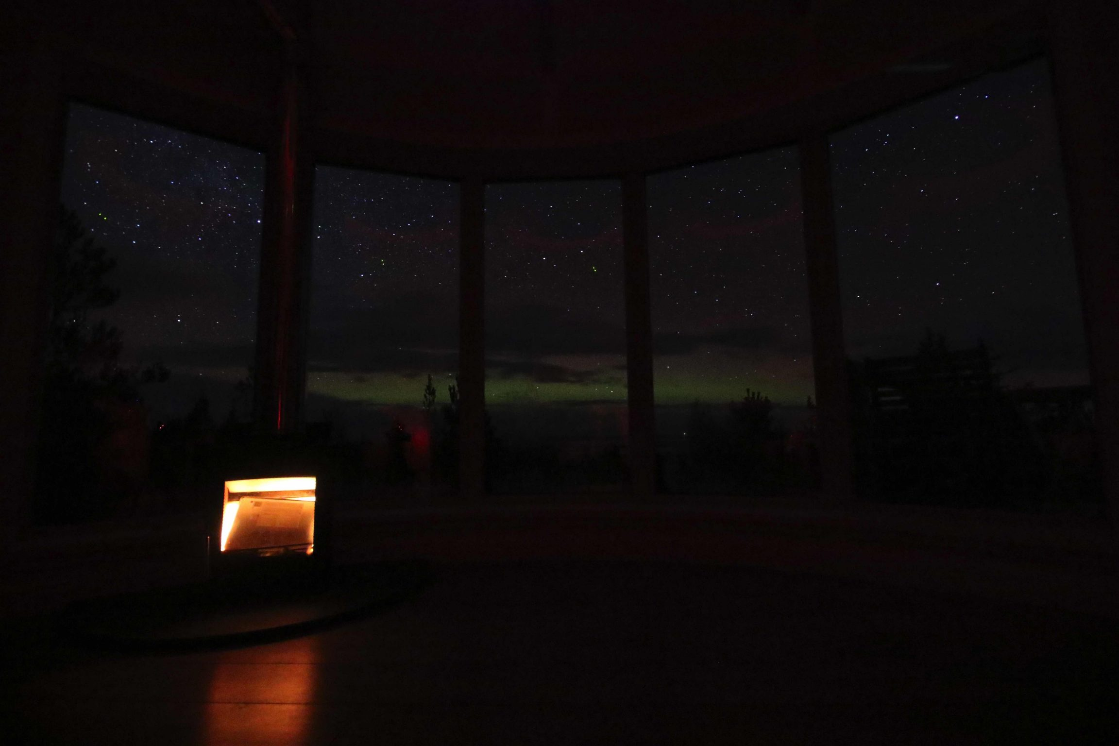 Northern Lights from your cabin in the woods